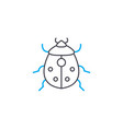 garden pests linear icon concept garden pests vector image