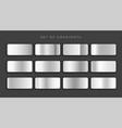 gilver metallic gray gradients set vector image