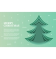 green christmas tree made paper original vector image vector image