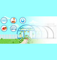 greenhouse concept flat vector image vector image
