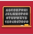 hand drawn chalked 3d letters and numbers vector image
