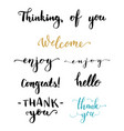 hand written brush words and phrases vector image