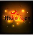 happy halloween blur night backgrounds vector image