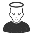 Holy Man Grainy Texture Icon vector image vector image