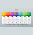 Infographics design with 7 options
