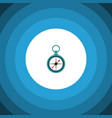 isolated navigation flat icon measurement vector image