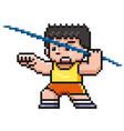 javelin thrower vector image