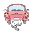 just married car isolated icon design vector image vector image