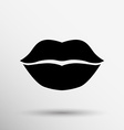 kiss lips lipstick icon passion symbol people vector image vector image