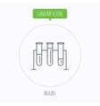 Laboratory bulbs icon Chemistry sign vector image