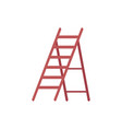 ladder or folding staircase icon flat cartoon vector image vector image