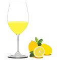 Lemon juice vector image