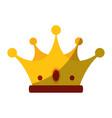 luxury king crown vector image vector image