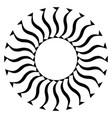 monochrome fan shape artistic element vector image vector image