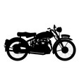 motor cycle silhouette vector image vector image