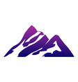 mountain abstract logo icon graphic design vector image vector image