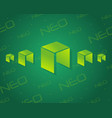 neo bitcoin on green background vector image