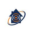 online home logo design template vector image