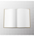 open magazine spread blank simple mock up vector image vector image