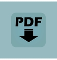 Pale blue PDF download icon vector image vector image
