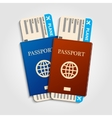 Passports with tickets vector image vector image