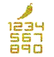 Peper-colored number set vector image