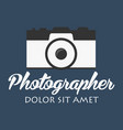 photographer logo camera logo logotype photo vector image