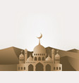 ramadan kareem greeting background mosque vector image vector image