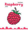 raspberry berry clipart vector image vector image