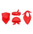 Red bandana realistic 3d headbands ways to wear