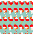 Rooster Cock bird Seamless Pattern line 2017 Happy vector image vector image