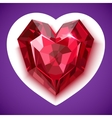 Ruby red angular heart icon vector image vector image
