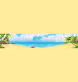 sea panorama bay tropical beach background vector image vector image