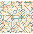 Seamless Multicolor Geometric Lines vector image