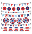 set bunting paper flags garlands party vector image