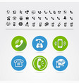 set of different icons with phone vector image vector image