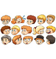 Set of facial expressions vector image vector image