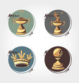 set trophies golf tournament vector image