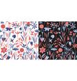 spring flowers seamless pattern scandinavian vector image vector image