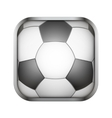Square icon for football app or games vector image vector image