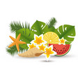 summer holidays floral decoration vector image vector image