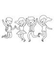 teenager boys and girls cartoons design vector image