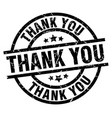 thank you round grunge black stamp vector image vector image