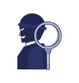 thief man with magnifying glass vector image vector image