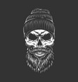 vintage monochrome lumberjack skull vector image