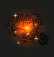 vintage motorcycle label motorbike shiny vector image