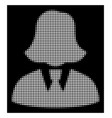 white halftone business lady icon vector image vector image