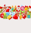 Winter Holiday Seamless Texture vector image vector image