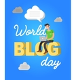 World blog day card vector image