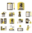 Rental of property flat color icons vector image